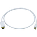 Mini DisplayPort to HDMI - Male-Male - 3FT - White