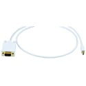 Mini-DisplayPort to VGA Cable White 10 Foot