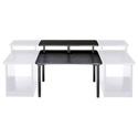 48 Inch Straight Multi-Desk with Configurable Overbridge