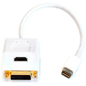 Apple MINI-DVI to HDMI Female & DVI-D Female Video Splitter