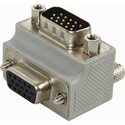 HD15-Pin VGA Right Angle Adapter Female Panel Mount