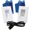 MidLite A46 In-Wall TVPower Solution Kit White