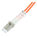 Camplex 62/125u Orange Multimode Duplex LC to LC Fiber Optic Patch Cables - 1 Meter