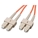 1-Meter 62/125 Fiber Optic Patch Cable Multimode Duplex SC to SC - Orange