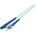 1-Meter 50/125 Fiber Optic Patch Cable Multimode Simplex ST to LC - 10-Gig Aqua