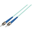 1-Meter 50/125 Fiber Optic Patch Cable Multimode Simplex ST to ST - 10-Gig Aqua