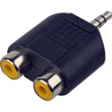3.5MM Stereo to Dual RCA-F Adaptor
