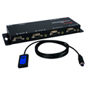 4x1 250MHz VGA Video/Audio Share Switch with Remote Control Cable
