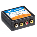 MuxLab 500012 VideoEase Dual RCA Video & RCA Unbalanaced Audio Over CAT5 Balun