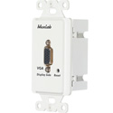 MuxLab 500043-WP-US VGA Wall Plate Balun II DB15F Over Cat5 PC-Side