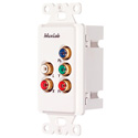 MuxLab 500058-WP-US Component Video/Stereo Audio Wall Plate Balun