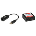 MuxLab 500070 VideoEase USB Over Cat5E/6 4-Port Extender Kit