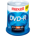 Maxell 16x Write-Once DVD-R Spindle - 100 Disc Spindle