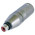 Neutrik NA2MPMF 3 Pole XLR Male to RCA Female Audio Adapter