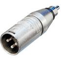 Neutrik NA2MPMM 3 Pole XLR Male to RCA Male Audio Adapter