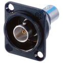 Neutrik NBB75DFIB-P Receptacle BNC D style feedthrough Isolated-Black 75 ohm
