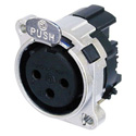 Neutrik NC3FBH1-M25 B Series 3 Pole Female XLR Receptacle