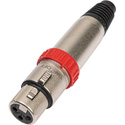 Neutrik NC3FXS 3 Pole XLR Female with On-Off Switch (Nickel)