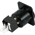 NC3MD-SNAP Male Chassis Mount XLR to Snap Terminal