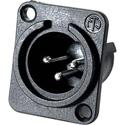 Neutrik NC3MPP Male 3-Pin XLR Black Plastic