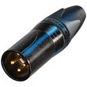 Neutrik NC3MXX-B 3 Pin Male Cable Connector XLR Black/Gold
