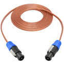 TecNec NL4FC 12 Series 12ga Speaker Cable Featuring Neutrik NL4FC Speakon 25ft
