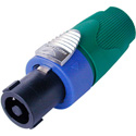 Neutrik NL4FX-5 4 Pole speakON Cable Connector - Green Bushing