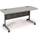 National Public Seating BPFT-2460 5 Foot Plastic Flip-n-Store AV Table