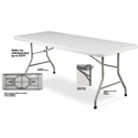 BT-3060 Plastic Blow Molded Grey Rectangle Folding Table 30inx60in