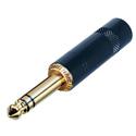 Rean NYS228BG 1/4 Inch TRS Plug (Black & Gold)