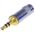 Rean NYS231G 3.5mm Plug - 3-Pole - Metal Handle - Gold Plated Contacts