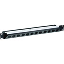 Neutrik NZP1RU-12 30-Degree 12-Port D-Shape Connector Panel - Black