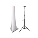 Scrim Werks 15FT High Crank Stand Slip Screen - White