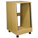 16 Space Sloped Oak Rack with Casters