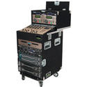 Grundorf OU-1684C 16 Space Bottom 8RU  Slant 4RU  Top Rack- Black