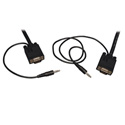 Tripp Lite P504-006 6ft SVGA/VGA Monitor and Audio Cable with Coax (HD15 M/M - 3.5mm M/M)