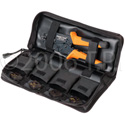 Greenlee PA1600 Broadcast Pack Crimp Tool w/5 Coax Die Set In Carry Pouch