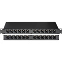 MCS PBXLR-12COMBO  24-Point XLR & 1/4-TRS Combo to XLR & 1/4-TRS Combo Feed-Thru Patch Panel