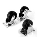 Penn-Elcom 5292 2 Inch Swivel Caster w/Side Brake & 100 Lb. Capacity