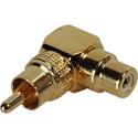RCA Male to Right Angle RCA Female Audio Adapter / Video Adapter Gold