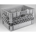 24 Quart Grey Plastic Milk Crate Gray