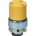 15A-125V NEMA 5-15R Commercial Grade Vinyl Armored 3-Prong Receptacle Yellow