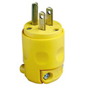 Leviton 515PV 15A 5-15P 125 Volt Commercial Grade 3-Prong AC Male Plug Yellow