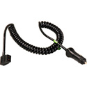 Connectronics 10ft Coiled Powertap F to Cigarette Plug Power Cable