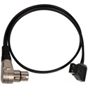 Anton Bauer PowerTap (P-Tap) to Right Angle 4-Pin XLR Female Power Cable 20 Inch