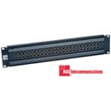 ADC by TE Connectivity PPE2226-N-BK Pro Patch Enhanced Video Panel (2 Rows of 26 Standard Jacks)