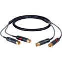 Professional 2RCA-2RCA Male Patching  Audio Cable 3ft