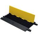 Heavy Duty 1.25in Slot 5 Channel Cable Protector- 3ft Yellow/Black