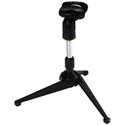 Quik-Lok A-188 Desktop Microphone Stand with Tripod Base