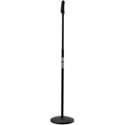 Quik Lok A-498 Round Base Mic Stand w/One-Hand Clutch Height Adjust
